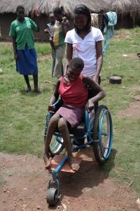Og endeleg i rullestol